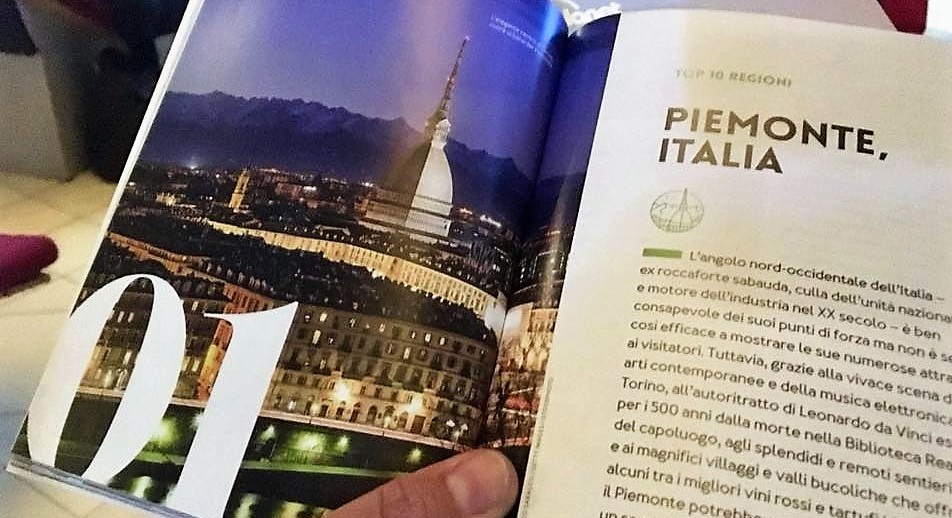 Il Piemonte sul podio della classifica della Lonely Planet