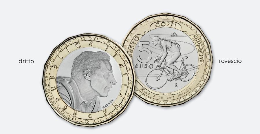 Una moneta da collezionare per ricordare Fausto Coppi