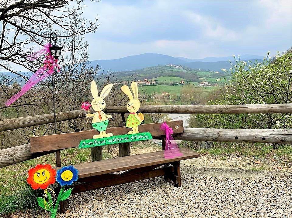 Dal belvedere della Val Borbera, un omaggio a Pasqua!